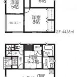 新潟市秋葉区荻島の新築住宅の1号棟間取図