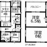 新潟市東区牡丹山の新築住宅5号棟の間取図