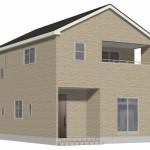 新潟市東区牡丹山の新築住宅3号棟の外観完成予定パース