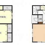 新潟市西蒲区川崎の中古住宅の間取り図