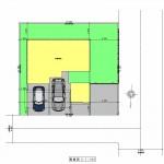 新潟市中央区新和の土地の建物プランの配置図