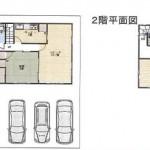 新潟市東区有楽の中古住宅の間取図