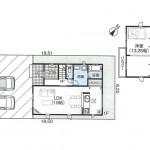 新潟市西区西有明町の新築住宅の間取図