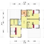 新潟市東区上木戸の【土地・分譲地《区画8》】建物プラン例の2階間取図