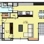 新潟市東区上木戸の【土地・分譲地《区画7》】建物プラン例の1階間取図