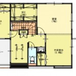 新潟市東区上木戸の【土地・分譲地《区画7》】建物プラン例の2階間取図