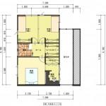 北蒲原郡聖籠町の土地の建物プラン例1の1階間取り図