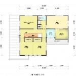 新潟市東区上木戸の【土地・分譲地《区画6》】建物プラン例の2階間取図