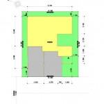 新潟市東区上木戸の【土地・分譲地《区画8》】建物プラン例の配置図