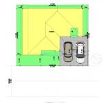 新潟市東区上木戸の【土地・分譲地《区画6》】建物プラン例の配置図