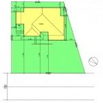 北蒲原郡聖籠町の土地の建物プラン例の配置図