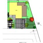 北蒲原郡聖籠町の土地の建物プラン例1の配置図
