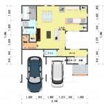新潟市東区上木戸の【土地・分譲地《区画8》】建物プラン例の1階間取図