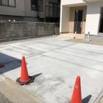 新潟市西区西有明町の新築住宅の前面道路