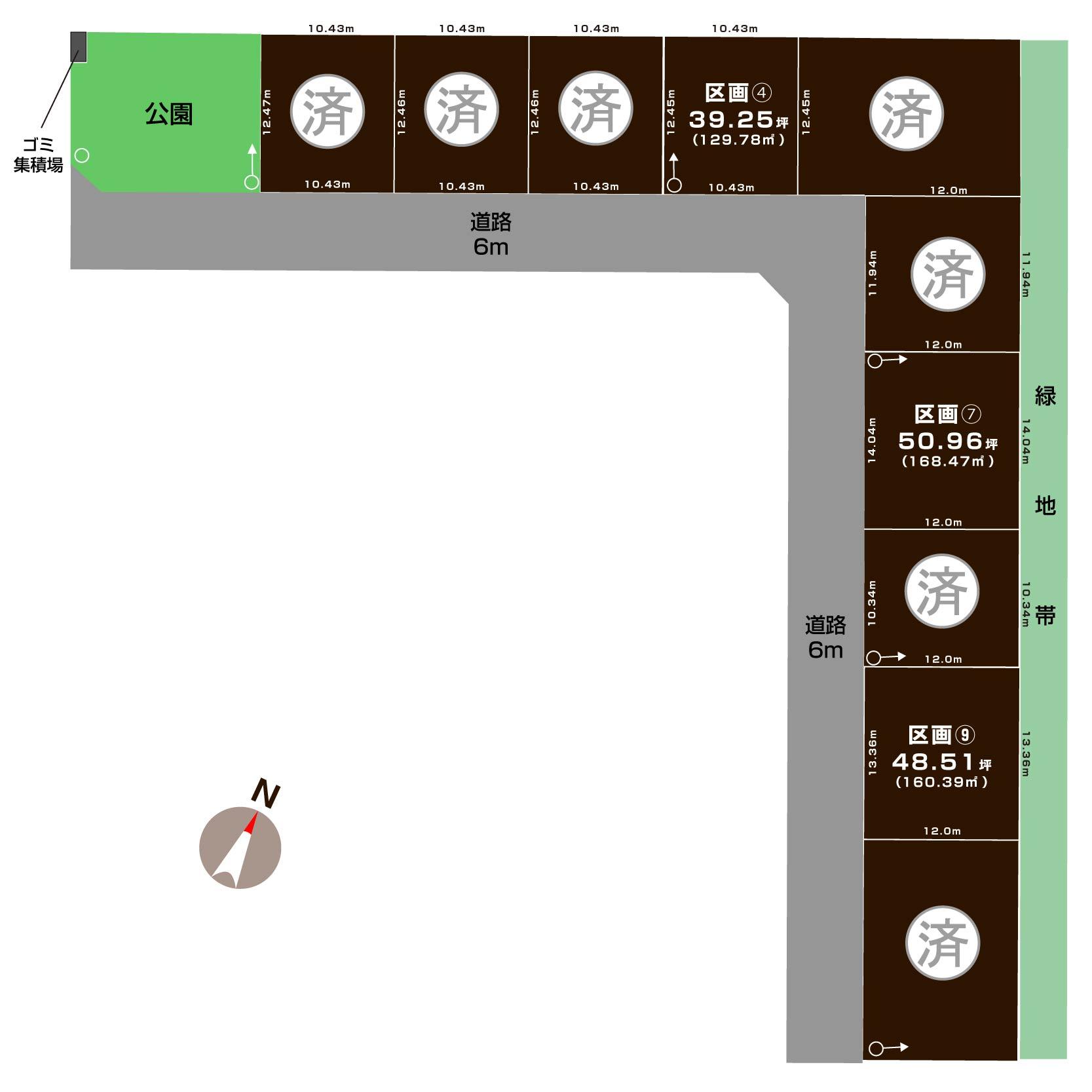 新潟市東区上木戸の【土地・分譲地《全11区画》】不動産情報の敷地図