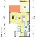 新潟市中央区鳥屋野の土地の建物プラン例の階間取り図