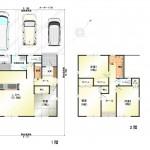 新潟市東区東中野山の中古住宅の間取図