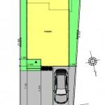 新潟市西区寺尾の土地の建物プラン例の配置図