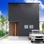 新潟市西区寺尾の土地の建物プラン例の外観パース