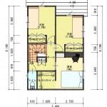 新潟市西区寺尾の土地の建物プラン例の2階間取り図