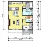 新潟市東区豊の土地の建物プラン例の1階間取り図