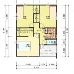 新潟市東区豊の土地の建物プラン例の2階間取り図