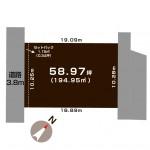 新潟市江南区亀田水道町の【土地】不動産情報の敷地図