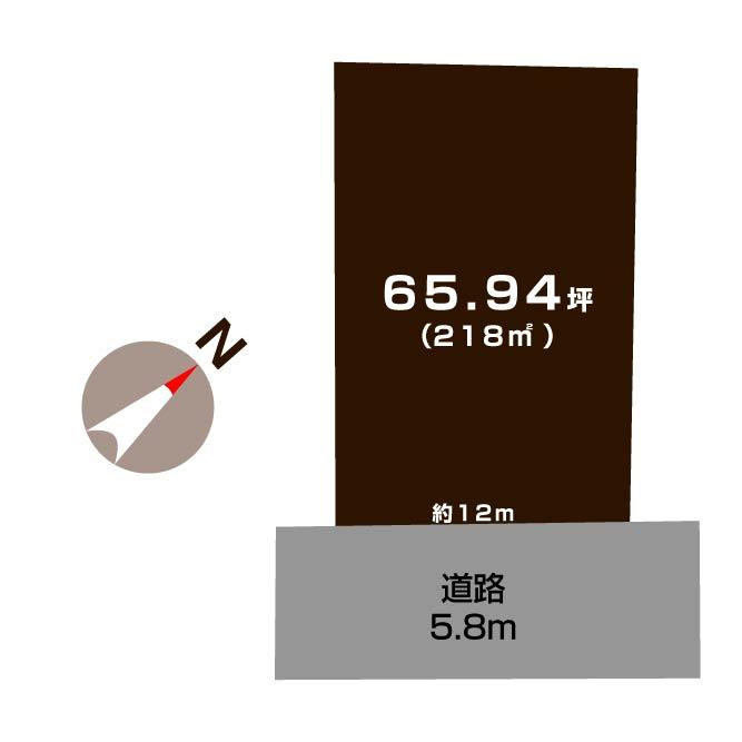 新潟市西区金巻の【土地】の敷地図