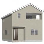新潟市西区五十嵐の新築住宅3号棟の3号棟外観完成予定パース