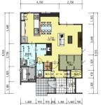 新潟市東区紫竹の土地の建物プラン例の1階間取り図