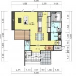 新潟市西区金巻の土地の建物プラン例の1階間取り図