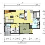 新発田市西園町の【土地】の建物プラン例の1階間取図
