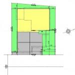 新潟市東区海老ケ瀬新町の土地(区画3)の建物プラン例の配置図