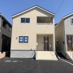 新潟市西区五十嵐の新築住宅2号棟の外観写真