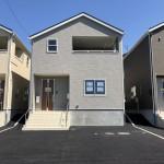 新潟市西区五十嵐の新築住宅3号棟の外観写真