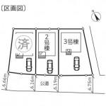 新潟市秋葉区金沢町の【新築住宅】の区画図