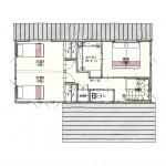 新潟市東区海老ケ瀬新町の土地(区画4)の建物プラン例の1階間取り図
