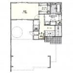 新潟市東区海老ケ瀬新町の土地(区画3)の建物プラン例の1階間取り図