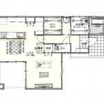 新潟市東区海老ケ瀬新町の土地(区画8)の建物プラン例の1階間取り図