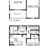 新潟市東区浜谷町の新築住宅1号棟の間取図