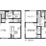 新潟市東区秋葉の新築住宅1号棟の間取図