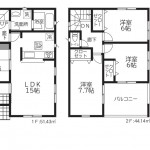 新潟市秋葉区金沢町の【新築住宅】1号棟の間取図