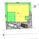 新潟市東区海老ケ瀬新町の土地(区画4)の建物プラン例の配置図