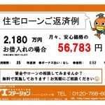 新潟市東区秋葉の新築住宅の住宅ローン返済例