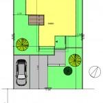 新潟市西区金巻の土地の建物プラン例の配置図