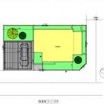 新発田市西園町の【土地】の建物プラン例の配置図