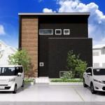 新潟市東区紫竹の土地の建物プラン例の外観パース