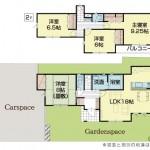 三条市塚野目6丁目の新築住宅5号棟の間取り図(5号棟)