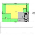 新潟市東区海老ケ瀬新町の土地(区画8)の建物プラン例の配置図