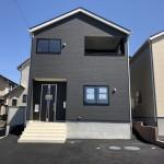 新潟市西区五十嵐の新築住宅1号棟外観写真